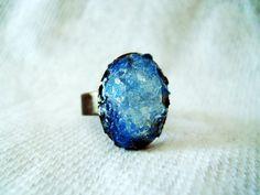 Opal Ring Opal Druzy Ring White Opal Ring by CrystalynsDreamery, $26.00