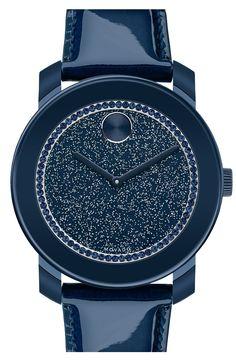 Love this navy glitter watch!