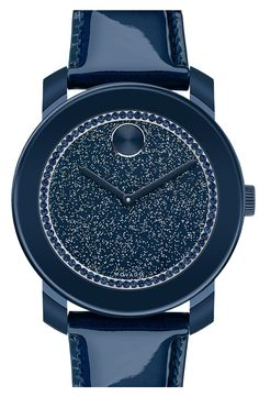 Love this navy glitter watch!  Via @LuxeFinds. #watches #navyblue