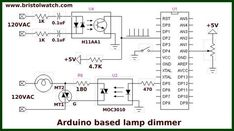 Arduino with zero-crossing detector for AC power control.