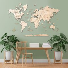 Neutral Wooden 3D World Map by MapFromWood. Natural Wood Map wall art world map wooden map rustic decor home wooden world map push pin 3d world map wood wall art. Wooden world map for living room, bedroom, hallway, kids room, home office wall decoration. Our wooden map was created to make your apartment or office really cool and beautiful. #woodenwalldecor #homedecor