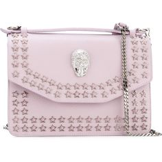 Philipp Plein Anniversary Crossbody Bag ($2,093) ❤ liked on Polyvore featuring bags, handbags, shoulder bags, studded shoulder bag, crossbody purses, pink handbags, pink shoulder bag and rhinestone cross body purse