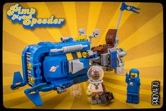 How many of you remember MTV's Pimp my ride, with its extravagant cars? I do, and I must confess I enjoyed that series! When I saw for the first time the LEGO Rey's Speeder set, I don't know exactly why, but I thought (almost) immediately of Benny and that show… So I decided to build the speeder in the Classic Space colors, added some very badass (imho) details, boosted the engines, added a second seat and… obviously thought of a Xzibit minifig for the space era. The story is this: Benny…