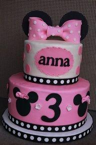 minnie mouse cake sprinkels | Minnie Mouse birthday cake