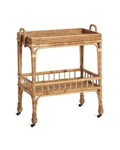 Shop the South Seas Side Cart and browse the rest of our Bar Carts & Consoles at Serena and Lily. Sezane Paris, Rattan, Wicker, New York Apartments, Bar Cart Decor, Coastal Living Rooms, South Seas, Bar Furniture, Porch Furniture