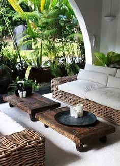 Tropical-chic Deign…outdoor seating – outdoor living - Home Decoraiton Outdoor Areas, Outdoor Seating, Outdoor Rooms, Garden Seating, Outdoor Patios, Outdoor Kitchens, Outdoor Living Spaces, Garden Sofa, Outdoor Lounge
