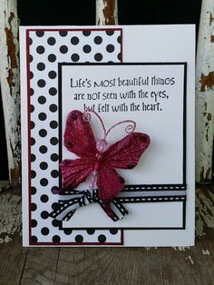 handmade card from Beyond Just Black and White...paper crafting projects ... great sentiment!