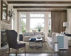 Living Room Stylish Lowcountry Home with a Neutral Palette Living Area, Living Spaces, Living Rooms, Family Rooms, Villa, Luxury Interior Design, Home Staging, Traditional House, Great Rooms