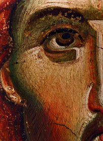 Icon detail by Manuel Panselenos Religious Images, Religious Icons, Religious Art, Byzantine Icons, Byzantine Art, La Pieta, St Clare's, Jesus Christus, Jesus Pictures