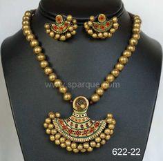 Terracotta jewellery set ..mathching with kerala sarees