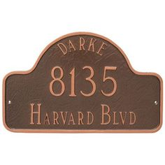 Montague Metal Products Arch with Name Address Plaque Finish: Aged Bronze/Gold