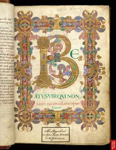 Arundel 155  f. 12  Illuminated initial and border, Copyright © The British Library