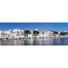 Fishing boats at fishing port Porto Colom Majorca Balearic Islands Spain Canvas Art - Panoramic Images (36 x 12)