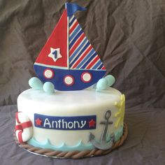 Sailboat birthday cake by yuMM