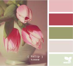 70 Ideas for bedroom green red design seeds Red Colour Palette, Colour Schemes, Color Combos, Pink Color, Color Patterns, Colour Palettes, Design Seeds, Palette Verte, Pink Design