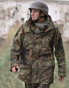 Mil-Tec BW Nässeschutz Jacke TEESAR®, flecktarn / mehr Infos auf: www.Guntia-Militaria-Shop.de