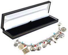 Beaux Bijoux - Bracciale in argento con charm di antichi talismani, ispirato Emma Swan della serie Once Upon A Time, spedito in confezione regalo