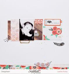 By Laeti Layout - Scrapbook Werkstatt - PinkFresh Studio - Pebbles Cottage Living collection