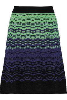 M Missoni Cotton-blend crochet-knit skirt  | THE OUTNET