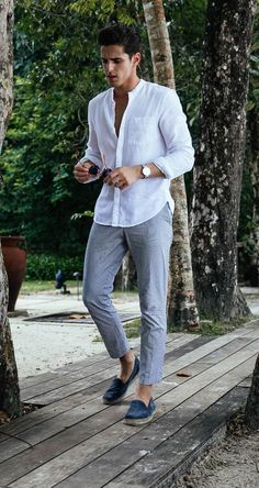 Men's outfit - a casual stylish look for resort wear #streetmagic