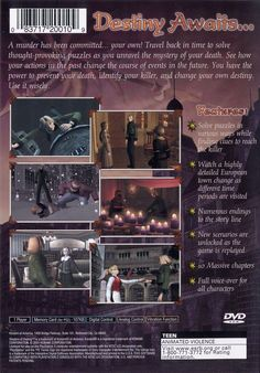 Today in gaming history   March 06, 2001 was the release date for Shadows of Destiny on PS2.    A young man named Eike Kusch strolls through the quiet patriarchal German town Lebensbaum. Suddenly, a tremendous blow darkens the sight of his eyes, and the next thing he can see is a very strange room filled with bizarre objects, and a voice talking to him from nowhere. A mysterious being known as Homunculus tells Eike that he has been stabbed to death. Homunculus gives Eike a time-travelling…