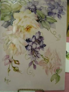 Roses and Wisteria by Cherryl Meggs.  First fire.