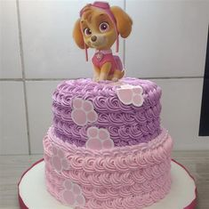 Bolo Do Paw Patrol, Paw Patrol Cake, Paw Patrol Party, 3rd Birthday Parties, Baby Birthday, Paw Patrol Birthday Cake, Girl Cakes, Cute Cakes, Cake Decorating