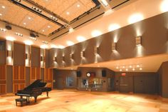 Fraser Performance & Recording Studio, Brighton, MA. Gorgeous live room with 28' ceilings.