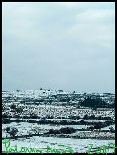 Snow in the Sierra de Guadarrama from the town of Cercedilla in Madrid.