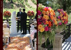Ceremony, Flowers & Decor, orange, pink, Ceremony Flowers, Flowers, Simply blooms