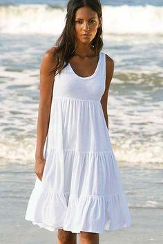 White Sundresses Long Day