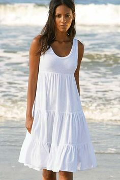 White Sundress For Beach