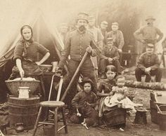 This picture was taken in a Civil War Camp near Washington DC in 1862. Interesting thing is that it shows a soldier with his wife and children. It is hard to say if the woman had just come to visit her husband, or if she was living there in the camp. Either way, it makes an interesting picture.