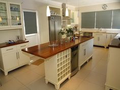 Wooden Free Standing Kitchen Cabinets. The Island.