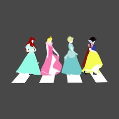 Check out this awesome 'Princesses+on+Abbey+Road' design on @TeePublic!
