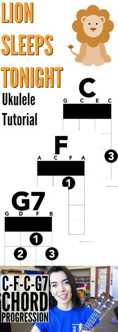 C - F - C - G7   Chord Progression   The Lion Sleeps Tonight   (from The Lion King)      Welcome to Ukulele School! The place where you...