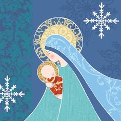 Leading Illustration & Publishing Agency based in London, New York & Marbella. Blessed Mother Mary, Blessed Virgin Mary, Religious Icons, Religious Art, Queen Of Heaven, Mama Mary, Jesus Art, Mary And Jesus, O Holy Night
