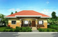This small house design can be built in a lot having an area of sq. This design can best fit on a meters lot frontage. Window Grill Design Modern, Modern Small House Design, Simple House Design, House Design Photos, Small House Images, Small House Plans, Small Cottage Designs, Bungalow Haus Design, One Storey House