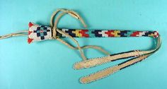 MESCALERO APACHE BEADED AWL CASE| Having geometri