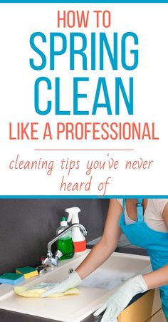 How to spring clean your house with a printable spring cleaning checklist. How to spring clean your house like a professional. The best spring cleaning hacks for busy moms. How to keep your house clean Green Cleaning, House Cleaning Tips, Cleaning Hacks, Cleaning Challenge, Cleaning Lists, Weekly Cleaning, Spring Cleaning Schedules, Spring Cleaning Tips, Putz Hacks