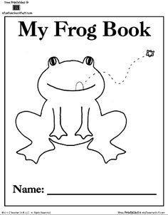 Frog Patterns, Journal Cover, Writing Pages, and Coloring Sheet http://atoztea.ch/JIAAAP