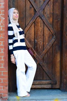 HH Style Guide: Nautical Striped Sweater at South Street Seaport – Haute Hijab