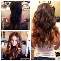 Balayage khloe Kardashian inspired blonde chocolate brown colored level 5