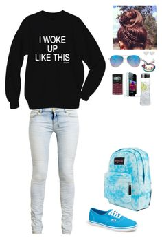 """Camping be back in a few days"" by rainbow22xd ❤ liked on Polyvore featuring Ksubi, ASOS, Vans, JanSport, LG, Riedel, Dinny Hall and Pura Vida"