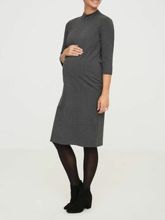 Mamalious Sweater Maternity Dress Size 8-16 Grey