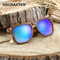 88c4050af16 HDCRAFTER Newly Round Women s Sunglasses Fashion Brand Design Imitation  Wood Frame Round Sun Glasses Casual Ladies