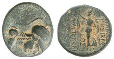SYRIA, Apameia (Seleukis and Pierien), bronze 22.36-35 BC, Aversum: draped Athena bust with helmet to the right, reverse: Nike treads left, RPC I 633. 4339.8. 18 g, R, panache, very fine    Dealer  Auction house Ulrich Felzmann    Auction  Minimum Bid:  100.00EUR
