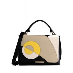 Emilio Pucci Color-Block Leather Top Handle Bag