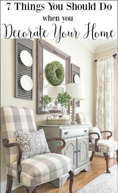 Farmhouse Dining Room Makeover - Martha Washington style chairs recovered with gray and white buffalo check fabric Dining Room Decor French Country Living Room, French Country Decorating, Country French, French Country Wall Decor, Country Bedrooms, Southern Living, Decorating Your Home, Decorating Ideas, Decorating Living Rooms