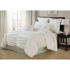 White Deluxe Danielle Comforter Queen